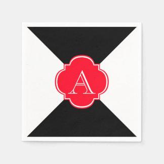 Monogram decoration disposable serviette