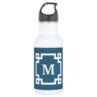 Monogram design 532 ml water bottle