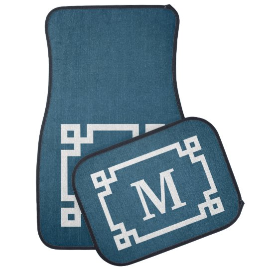 Monogram design car mat