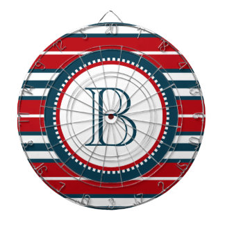 Monogram design dartboard