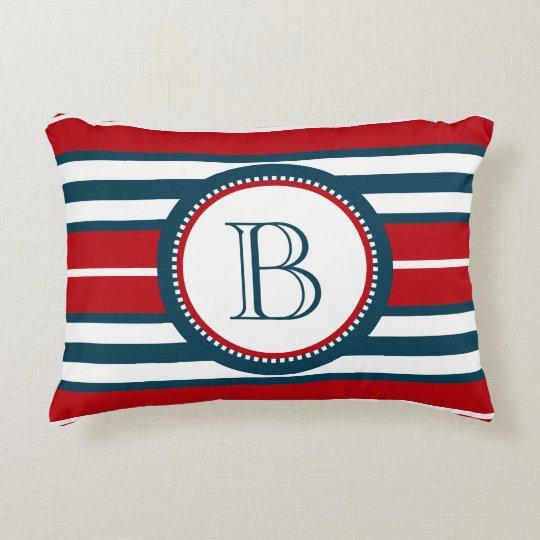 Monogram design decorative cushion