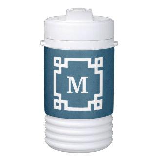 Monogram design drinks cooler