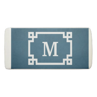 Monogram design eraser