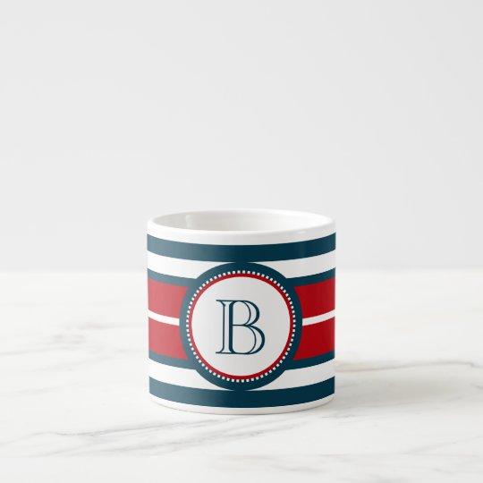 Monogram design espresso cup