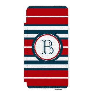 Monogram design incipio watson™ iPhone 5 wallet case