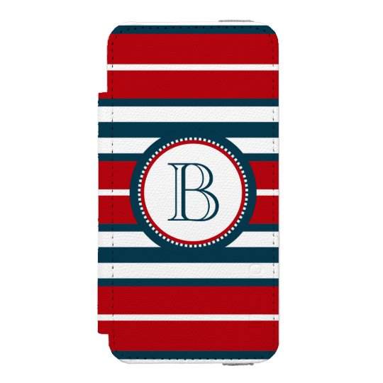 Monogram design incipio watson™ iPhone 5 wallet case