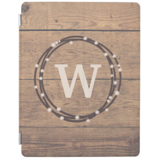 Monogram design iPad smart cover