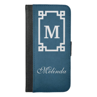 Monogram design iPhone 6/6s plus wallet case