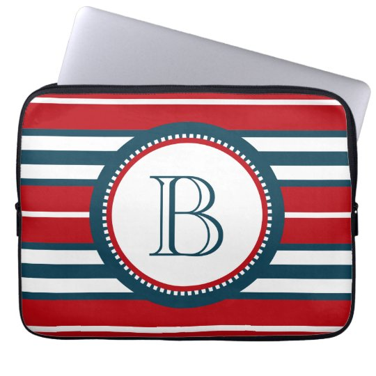 Monogram design laptop sleeve