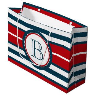 Monogram design large gift bag