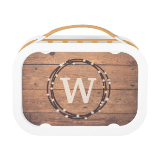 Monogram design lunch box
