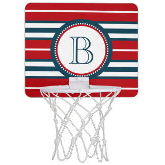 Monogram design mini basketball hoop