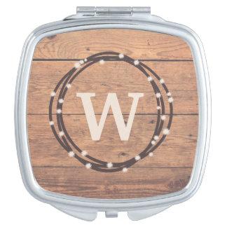 Monogram design mirrors for makeup