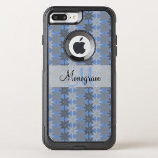 Monogram Design on Floral Pattern OtterBox Commuter iPhone 8 Plus/7 Plus Case