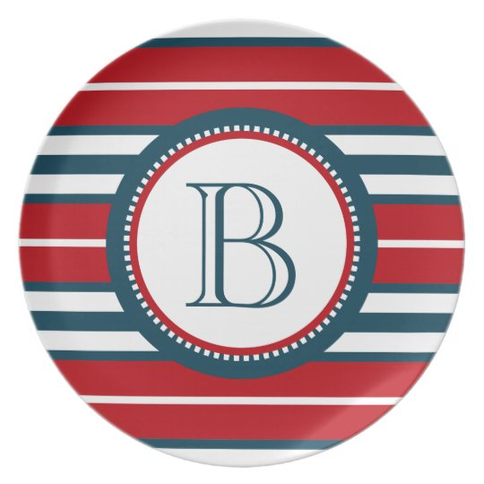 Monogram design party plates