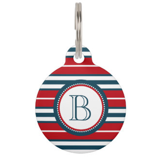Monogram design pet tag