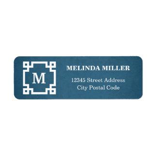 Monogram design return address label