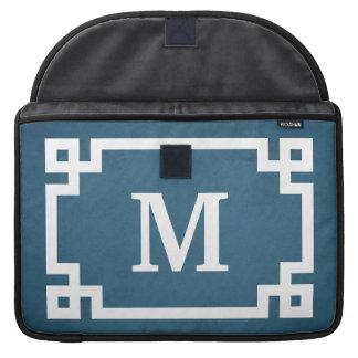 Monogram design sleeve for MacBooks