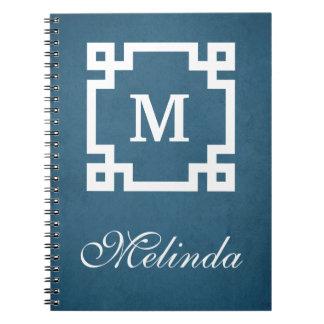 Monogram design spiral notebook