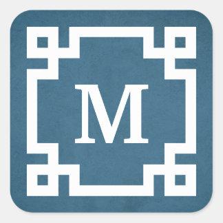 Monogram design square sticker