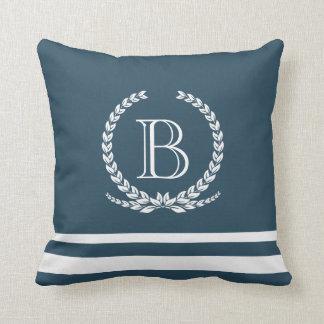 Monogram design throw pillow