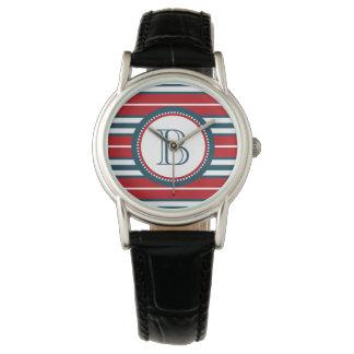 Monogram design watch