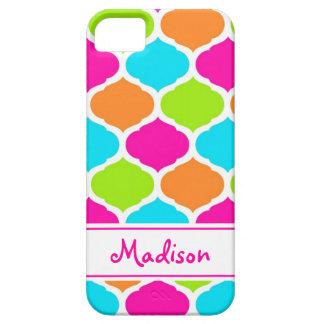 Monogram Designer Quatrefoil Lattice Pattern iPhone 5 Cases