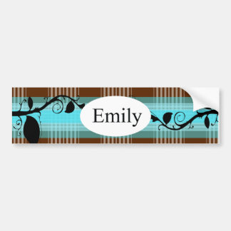 Monogram Designs Car Bumper Sticker