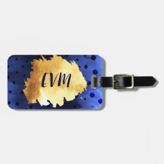 Monogram Destination Travel Faux Gold Elegant Luggage Tag