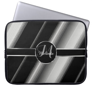 Monogram Diagonal Stripe with Silver Accent Computer Sleeves
