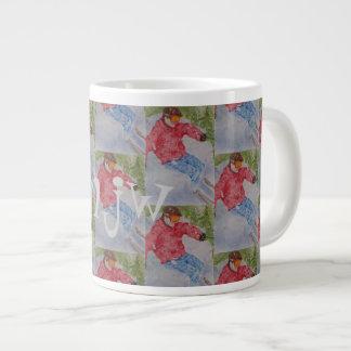 MONOGRAM DOWNHILL SKIER LARGE COFFEE MUG
