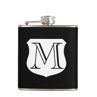 Monogram drink flask   personalizable gift for men