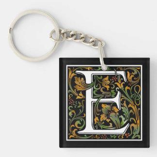 Monogram E Acrylic Key Chain