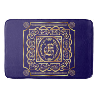 Monogram E Bath Mats Customise Change Back Colour