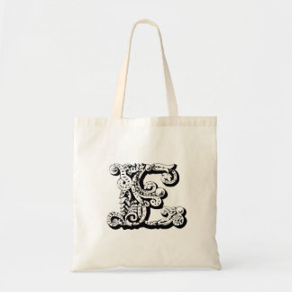 "Monogram ""E"" Tote Bag"