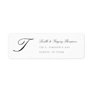 Monogram Elegance Custom Family Return Address Return Address Label