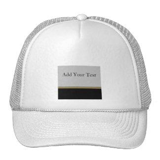 Monogram Elegance in Black Grey Gold Cap