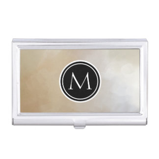 Monogram Elegant and Abstract Background Business Card Cases