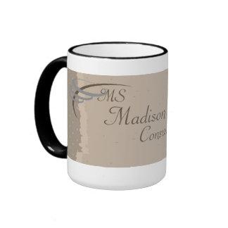 Monogram Elegant Beige, Brown Mugs