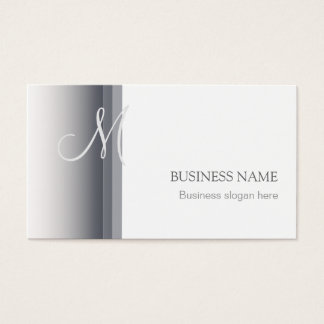 Monogram Elegant Simple Business Card 3