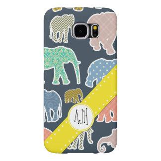 Monogram - Elephants, Polka Dots, Zigzag, Gingham Samsung Galaxy S6 Cases