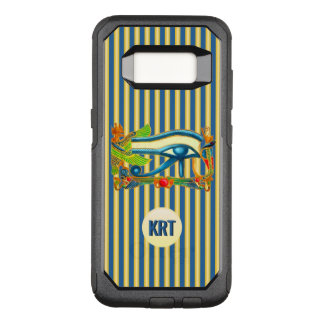 Monogram Eye of Horus on gold and lapis lazuli OtterBox Commuter Samsung Galaxy S8 Case