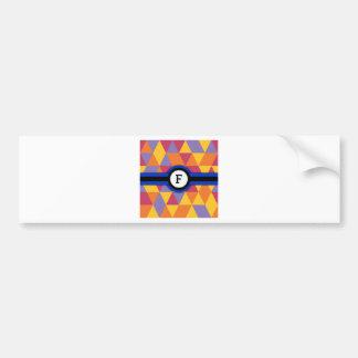 Monogram F Bumper Sticker
