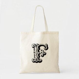 """Monogram """"F"""" Tote Bag"""