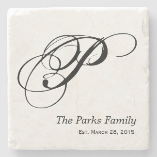 Monogram Family Coaster Set Stone Coaster