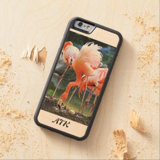 Monogram Flamingo iPhone 6/6s Maple Wood Case