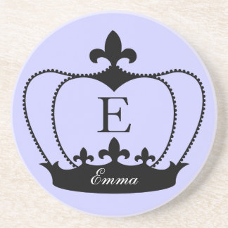 Monogram Fleur-de-lis Crown Coaster