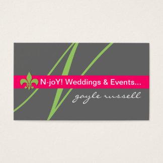 Monogram fleur de lis event planner profile card