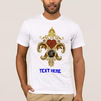 """Monogram Fleur-de-lis Letter """"M"""" Pick Your Style T-Shirt"""