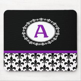 Monogram Fleur de Lis Mousepad